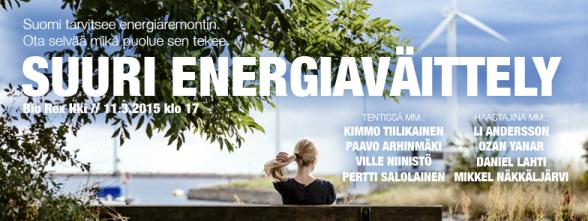 Suuri eduskuntavaalien energiaväittely 2015